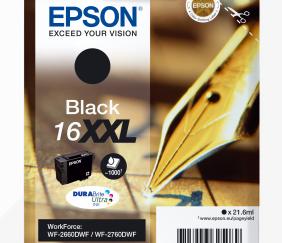 EPSON TINTEIRO PRETO 16XXL WORKFORCE 2660DWF RF/AM