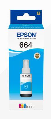 EPSON TINTEIRO AZUL 70ml ECOTANK L355/L555/ET-14000/ET-4550/ET-4