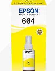 EPSON TINTEIRO AMARELO 70ml ECOTANK L355/L555/ET-14000/ET-4550/E