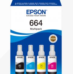 EPSON TINTEIRO PACK 4 CORES 664 ET-14000/L555/L355/4500/2600/50/2500/50